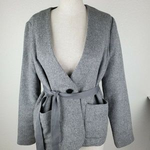 Madewell Carrington Blazer Gray top Size S G0161